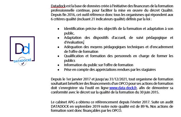 Description de datadock